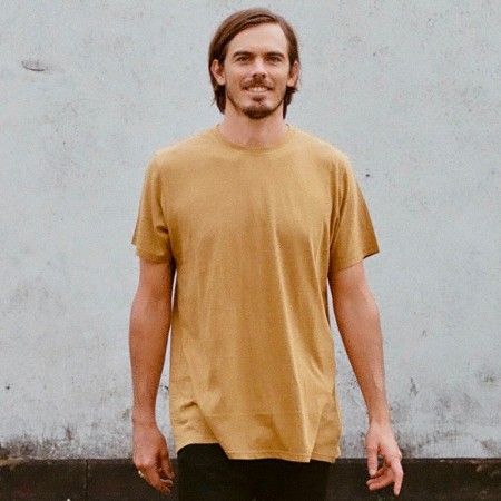 Hemp Clothing Australia Mens Classic Tee - Chai