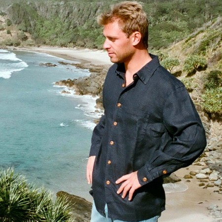 Hemp Clothing Australia Mens Heritage Shirt - Navy