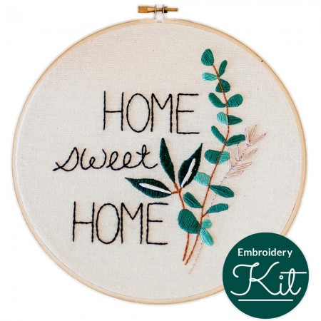 Brynn & Co. Embroidery Kit - Home Sweet Home