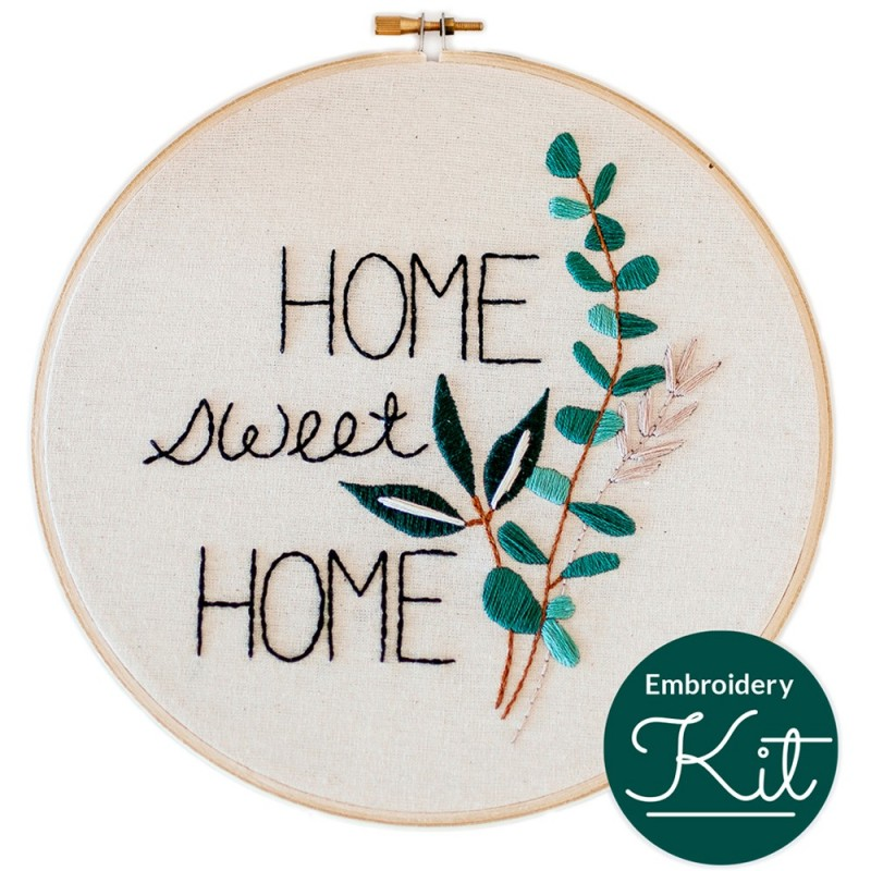 Brynn & Co. Home Sweet Home Embroidery Kit