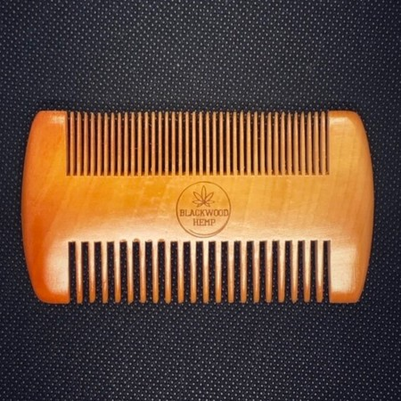 Blackwood Hemp Wooden Beard Comb - Blonde