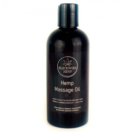Blackwood Hemp Infused Massage Oil 100ml (Black Label)