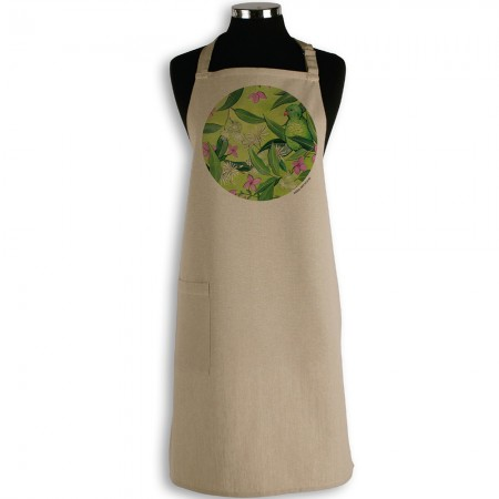 The Linen Press Ingrid Bartkowiak Organic Cotton Apron - Scaly Breasted Lorikeet