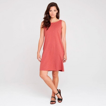 Dorsu Scoop Back Dress - Coral