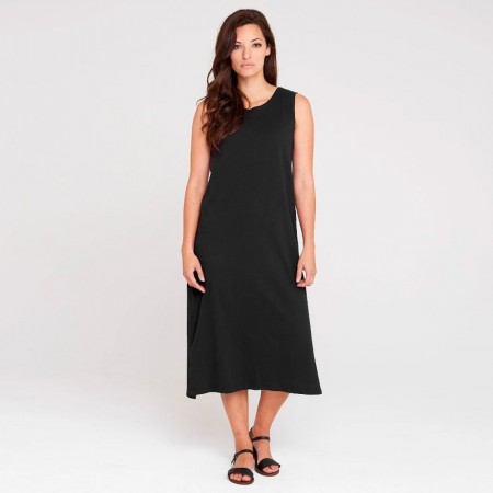 Dorsu Relaxed Tank Dress - Black