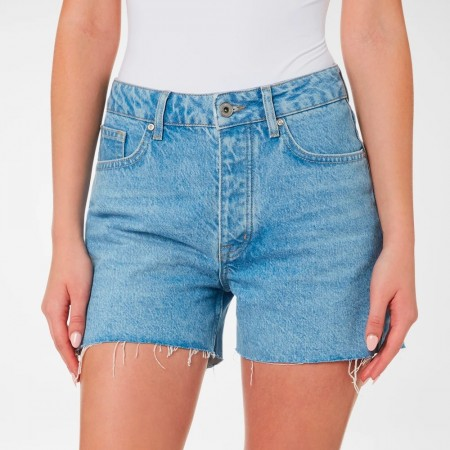Outland Denim Annie High-rise Relaxed Short - Former