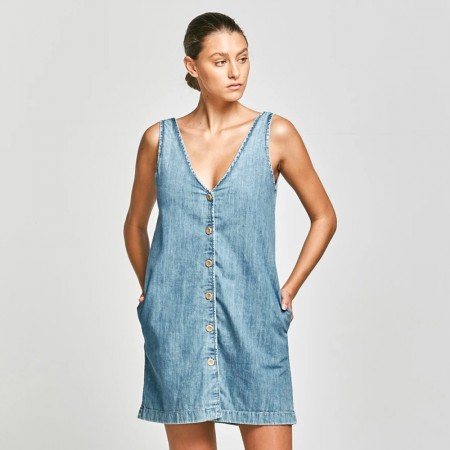 Outland Denim Adria Chambray Shift Dress - Weekend