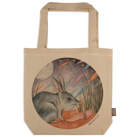 The Linen Press Ingrid Bartkowiak Organic Cotton Tote Bag - Greater Bilby