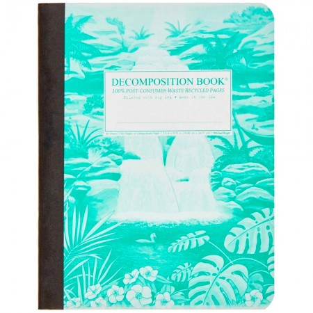 Decomposition Large Bound Notebook (Lined) - Hawaiian Waterfall