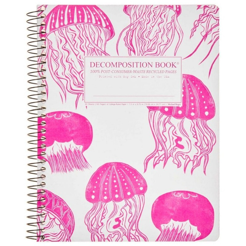Decomposition Large Spiral Notebook (Lined) - Jellyfish
