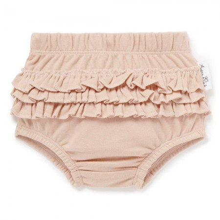 Aster & Oak Organic Cotton Ruffle Bloomers - Rose Dust