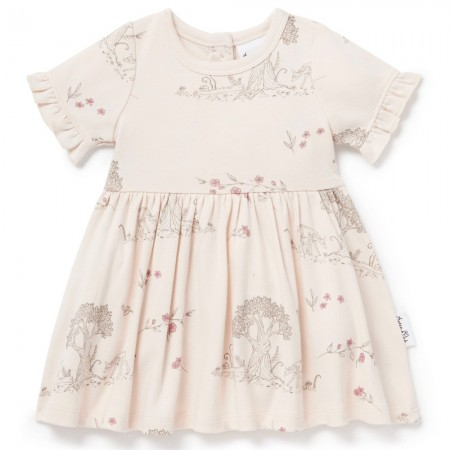Aster & Oak Organic Cotton Tree Of Life Skater Dress - Blush