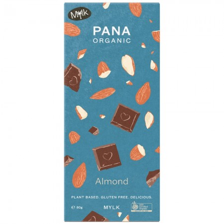 Pana Organic Vegan Chocolate Block 80g - Mylk Almond