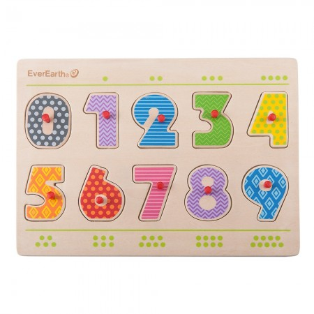 EverEarth Wooden Number Puzzle