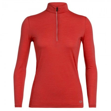 Icebreaker Merino Amplify Long Sleeve Half Zip Top - Fire