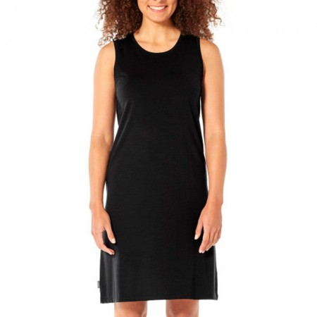 Icebreaker Merino Yanni Sleeveless Dress - Black
