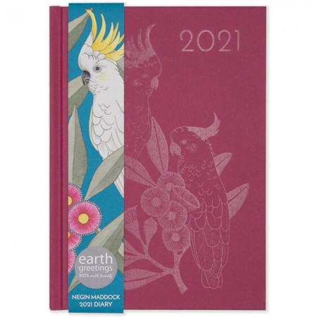 Earth Greetings 2021 Negin Maddock Diary - Pink Gumflower