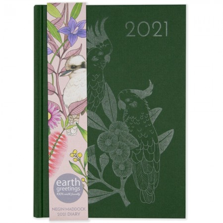 Earth Greetings 2021 Negin Maddock Diary - Forest Green