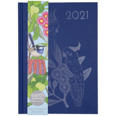 Earth Greetings 2021 Negin Maddock Diary - Blue Wren