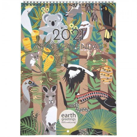 Earth Greetings 2021 Artists Calendar