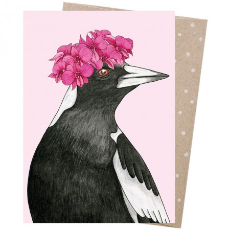 Earth Greetings Card - Orchid Crowned Magpie
