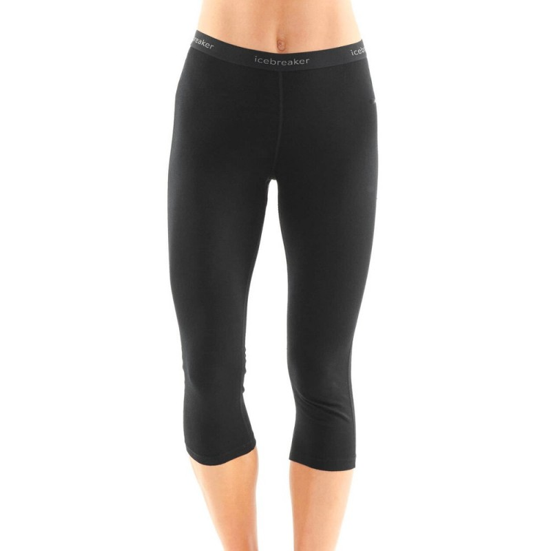 Icebreaker 200 Oasis Legless Thermals - Black