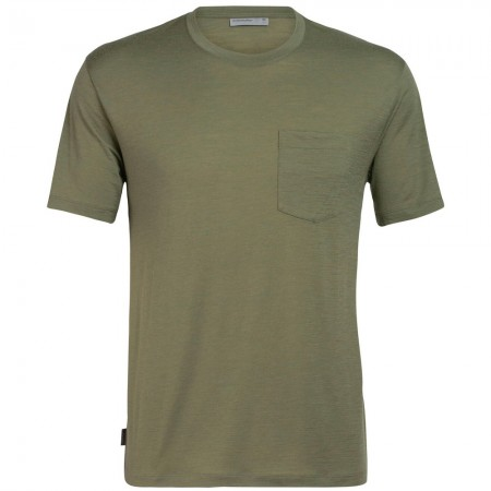 Icebreaker Mens Ravyn Short Sleeve Pocket Crewe Cypress