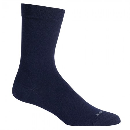 Icebreaker Adult Socks Lifetime Guarantee Lifestyle Fine Gauge Crew - Midnight Navy