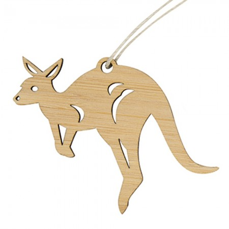 Earth Greetings Bamboo Mini Decoration - Hopping Kangaroo