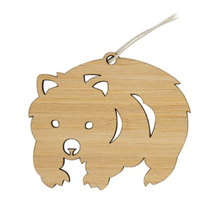 Earth Greetings Bamboo Mini Decoration - Waddling Wombat