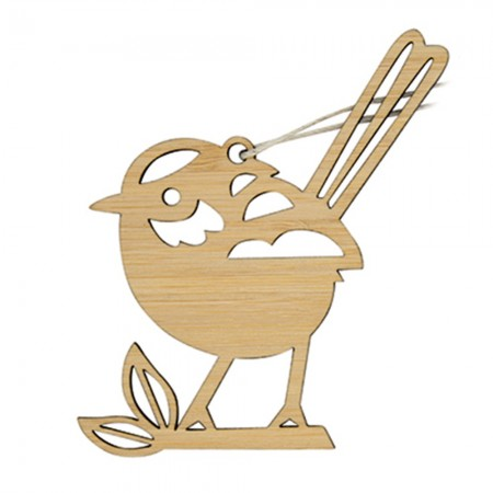 Earth Greetings Bamboo Mini Decoration - Fairy Wren