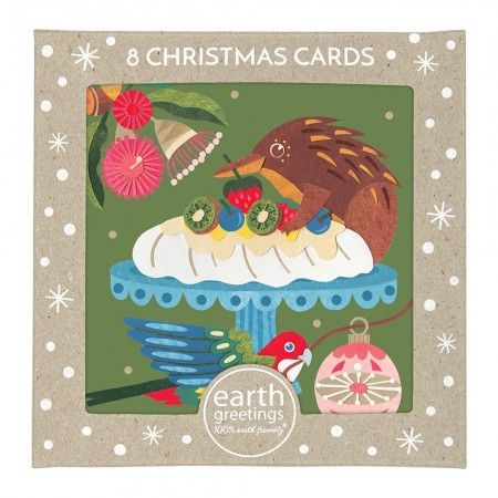 Earth Greetings Boxed Christmas Cards 8pk - Christmas Pavlova