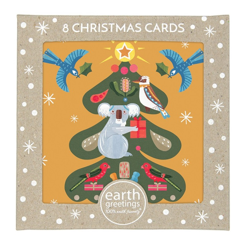 Earth Greetings Boxed Christmas Cards 8pk - Tree of Light