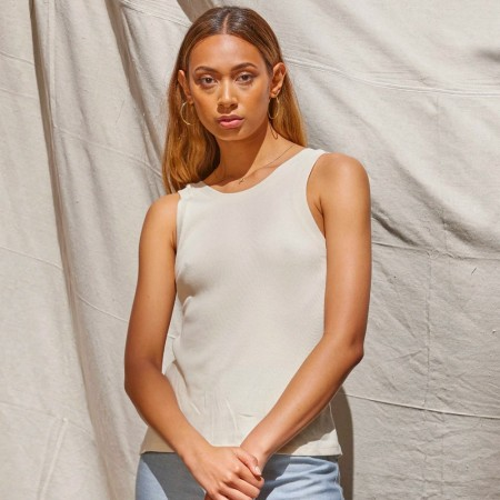 Lois Hazel Organic Cotton Rib Tank - Cream