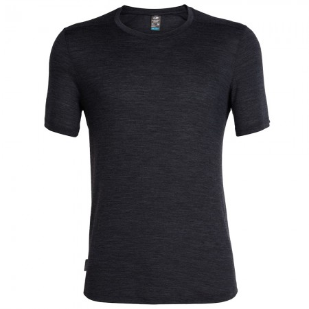 Icebreaker Mens Sphere Short Sleeve Crewe - Black
