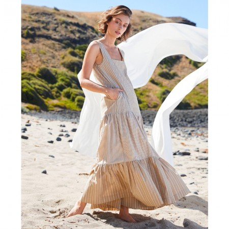 Lois Hazel Tier Dress - Sand