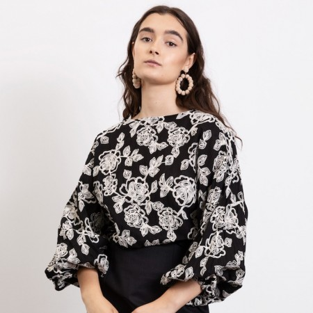 Dominique Healy Shosanna Cotton Blouse - Embroidered