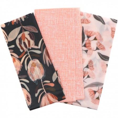 LAST CHANCE! Queen B Beeswax Assorted Wraps (3pk Med, Lge, XL) - Pink Natives