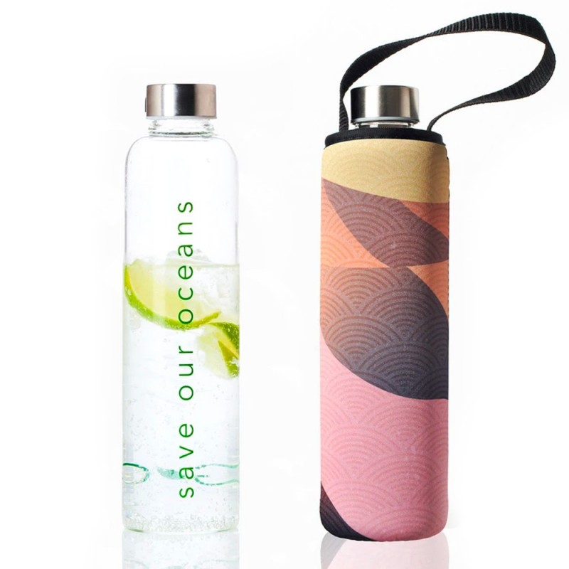 BBBYO Glass Bottle with Carry Cover 750ml - Dune
