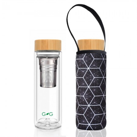BBBYO Glass Tea Flask with Carry Cover 500ml - Constellation