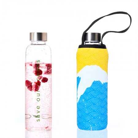 BBBYO Glass Bottle with Carry Cover 570ml - Fuji