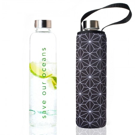 BBBYO Glass Bottle with Carry Cover 750ml - Tetra