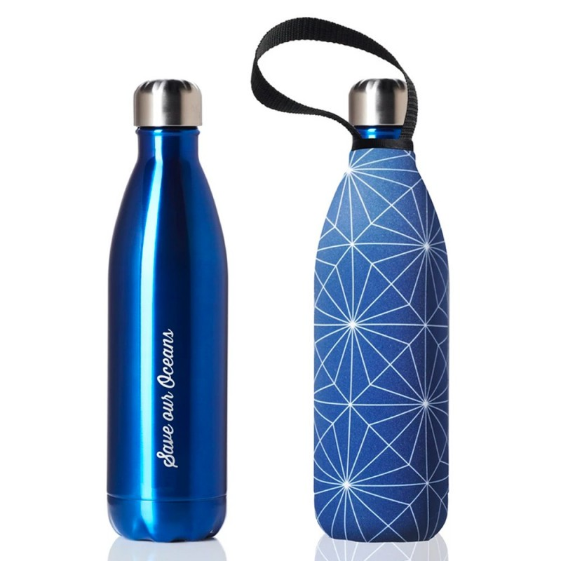 BBBYO Stainless Steel Water Bottle with Cover 750ml - Blue Cross