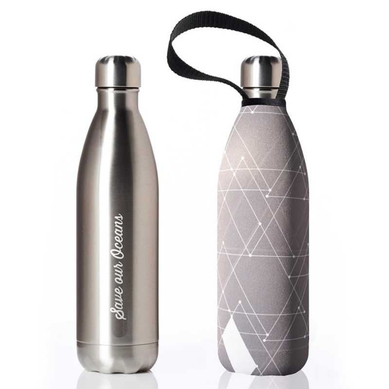 BBBYO Stainless Steel Water Bottle with Cover 750ml - Tri