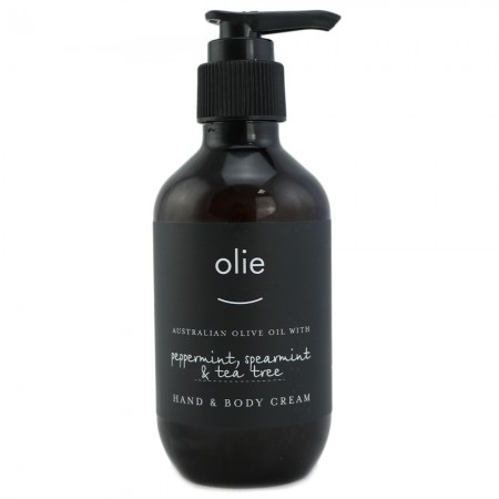 Olieve & Olie Hand & Body Cream 200ml - Peppermint, Spearmint & Tea Tree