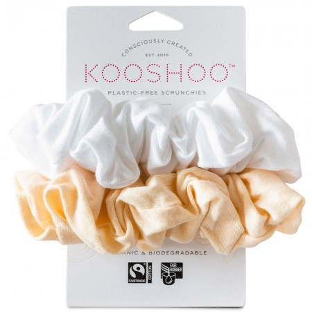 Kooshoo Organic Cotton Scrunchies - Natural Light