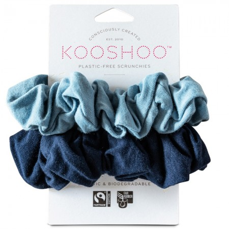 Kooshoo Organic Cotton Scrunchies - Evening Sky