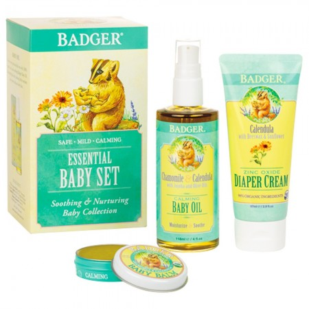 Badger Balm Essential Baby Gift Set