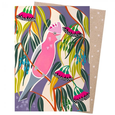 Earth Greetings Card - Rosea Gum Galah