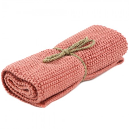 Brightwood Organic Cotton Face Washer & All Purpose Cloth - Burnt Rose